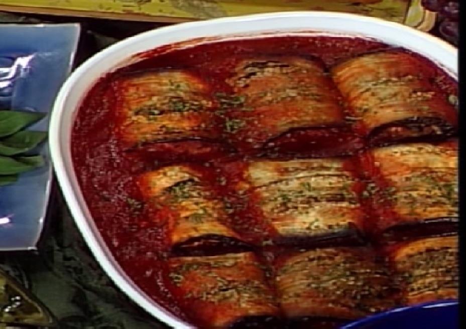 Tuscan Eggplant Roll-Ups